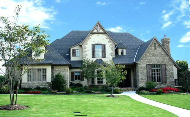 English traditional traditional exterior oklahoma for Classic house design exterior