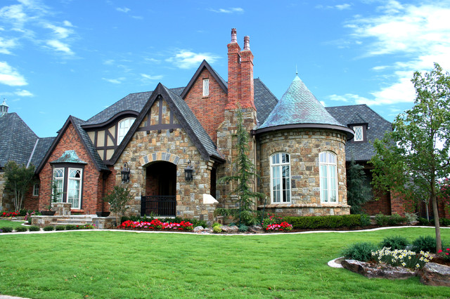 English tudor traditional exterior oklahoma city for Classic home exteriors