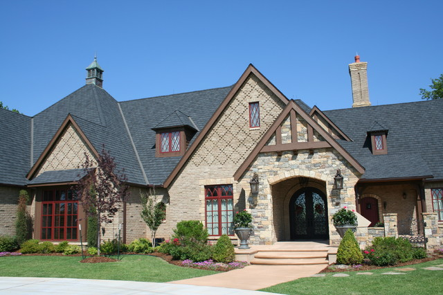 English tudor traditional exterior oklahoma city for Classic tudor house plans