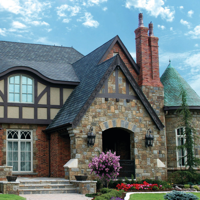 English tudor entry traditional exterior oklahoma for Classic house fronts