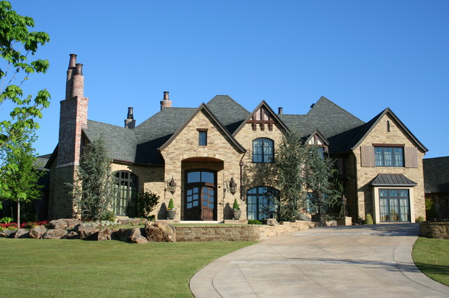 english tudor estate traditional exterior oklahoma