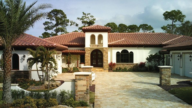 example of a tuscan exterior home design in miami email save entegra roof tile - Entegra Roof Tile