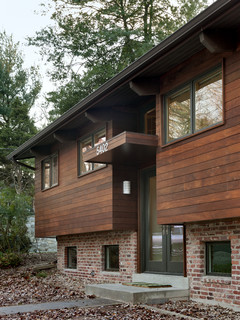 entry contemporary exterior dc metro by bennett frank mccarthy architects inc - Modern Home Exterior Wood