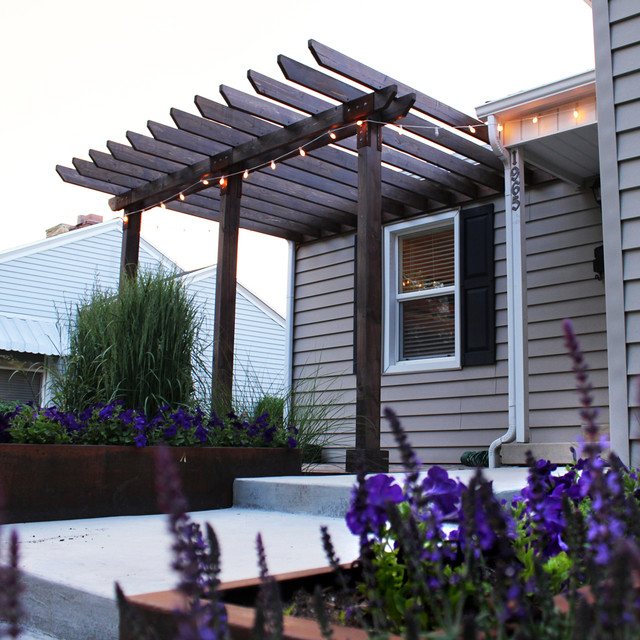 Entry Pergola Modern Exterior Salt Lake City By Kingbird Design LLC
