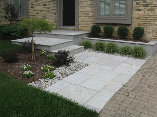 Eramosa Square Cut Flagstone Porch Step Walkway And Retaining Wall