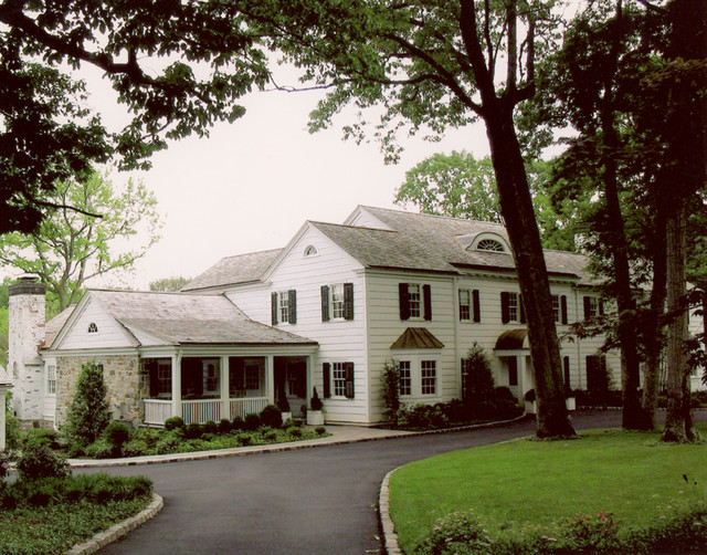 Essex fells house addition and pool house traditional for Pool house additions