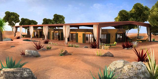 pop up house estate popup kit mediterranean exterior designs photos