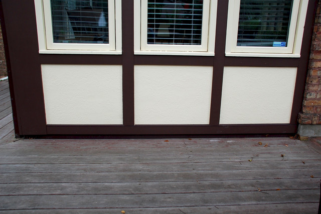 Evanston il marvin window hardie stucco siding remodel for Tudor siding panels