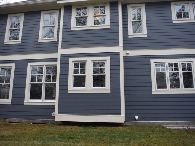 Evening Blue Lap Siding W Shingle Siding And Board
