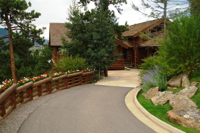 Evergreen Log Home Rustic Exterior Denver By