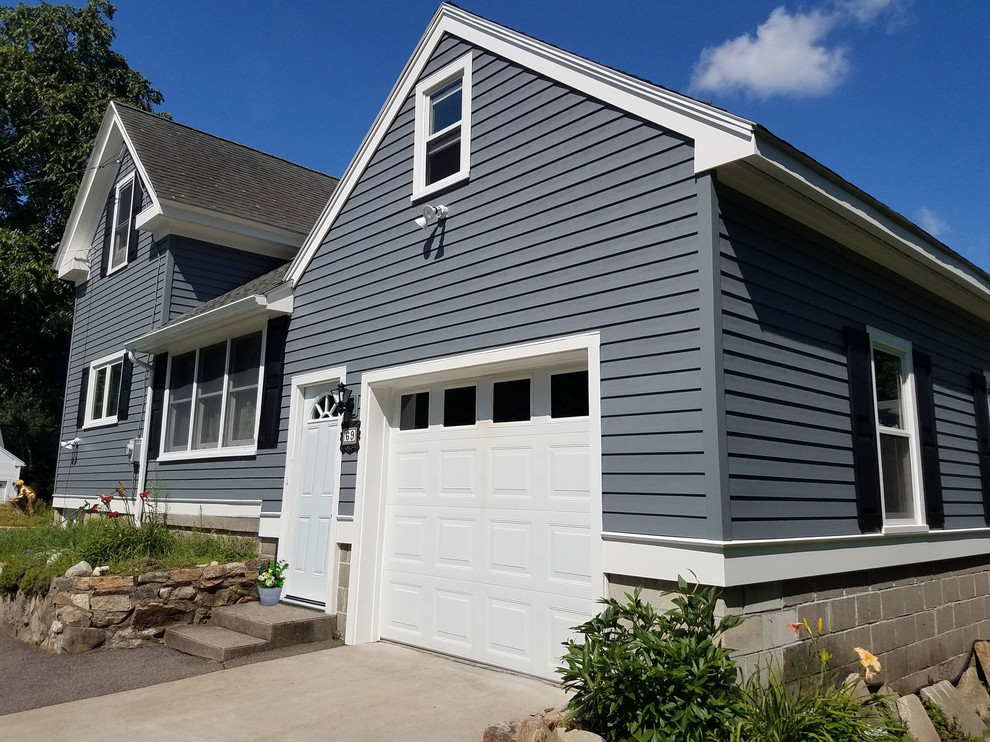 Everlast Composite Siding Flagstone 7 Exposure Traditional Exterior Boston By United Home Experts