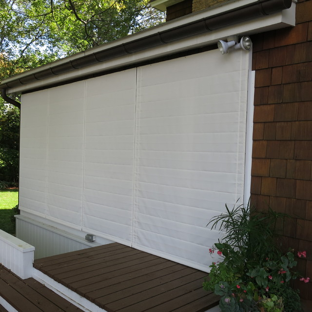Excelsior Mn Screen Porch Beach Style Exterior Minneapolis By Weather Queen Shades Llc