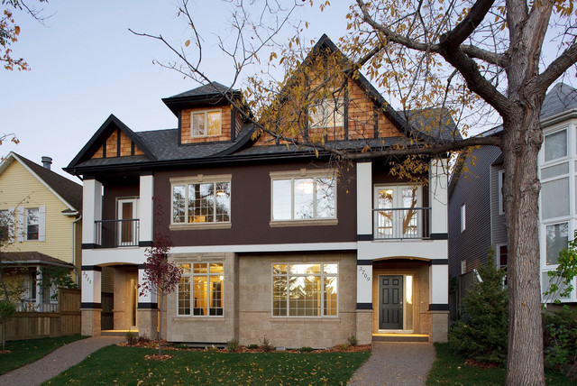 Executive calgary semi detached for Bangladeshi home design picture