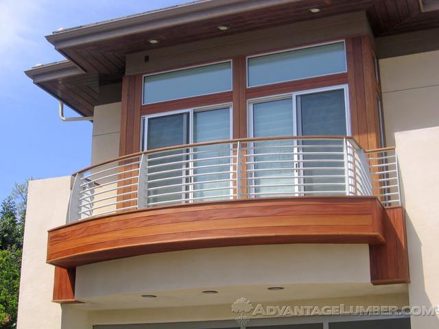 Exotic Hardwood Siding contemporary-exterior