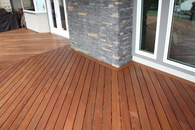 Exotic Picture Frame Decking - Tropical - Exterior - Calgary - by ...