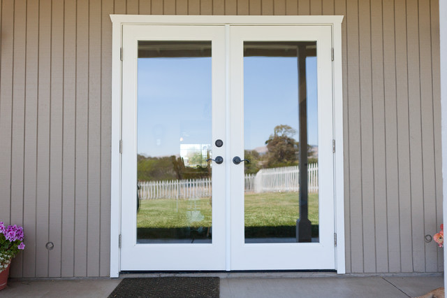 Exterior French Doors Pleasing Ext French Doors In Place Of Old Window  Traditional  Exterior Design Decoration