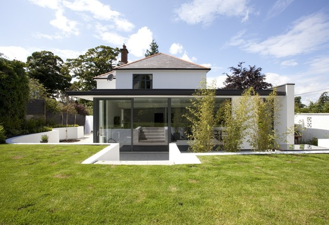 Extension to period house belfast contemporary for Modern house exterior uk