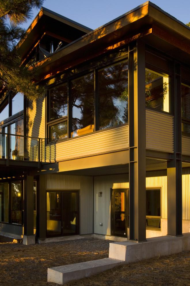 Contemporary metal exterior home idea in Sacramento