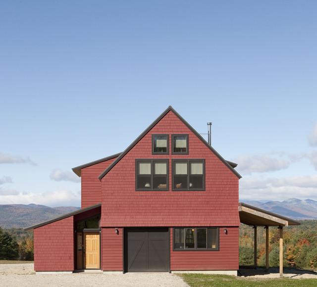 Exterior - barn door closed farmhouse-exterior