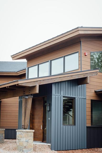 Exterior cedar siding modern exterior salt lake city for Modern home exterior finishes