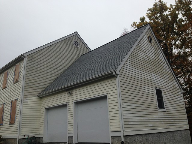Exterior Cedar Siding Repaint Contemporary Exterior New York By Boom