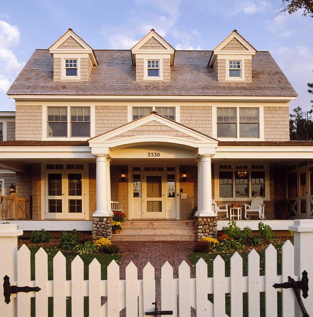 Exterior Classic American Dutch Colonial Traditional Exterior Minneap