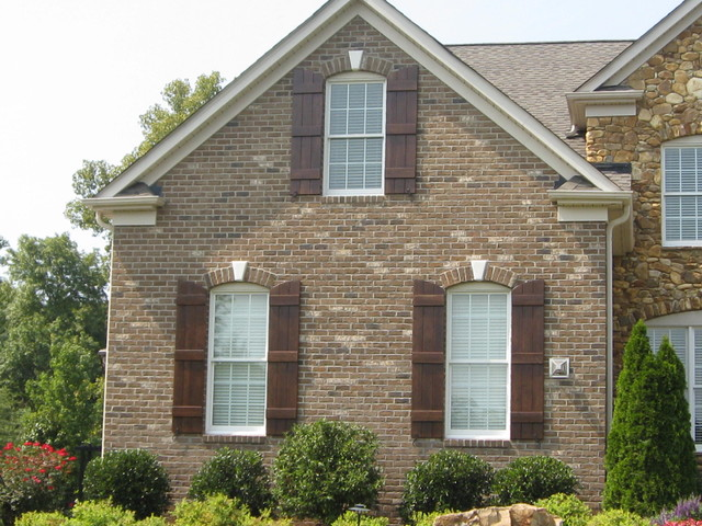 Exterior Custom Shutters Traditional Exterior Charlotte By Kolby Construction Company