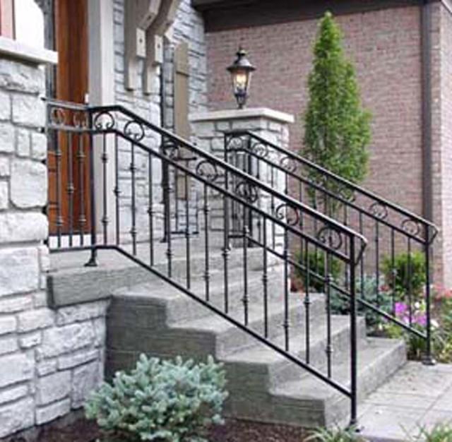 exterior decorative iron railing
