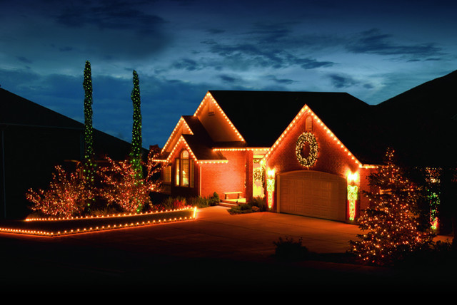 Home With Led Lighting Exterior By