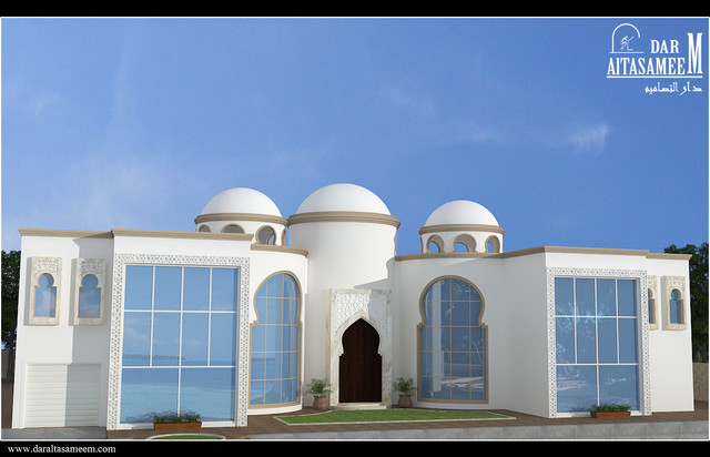 Exterior for an islamic style beach house for Mosque exterior design