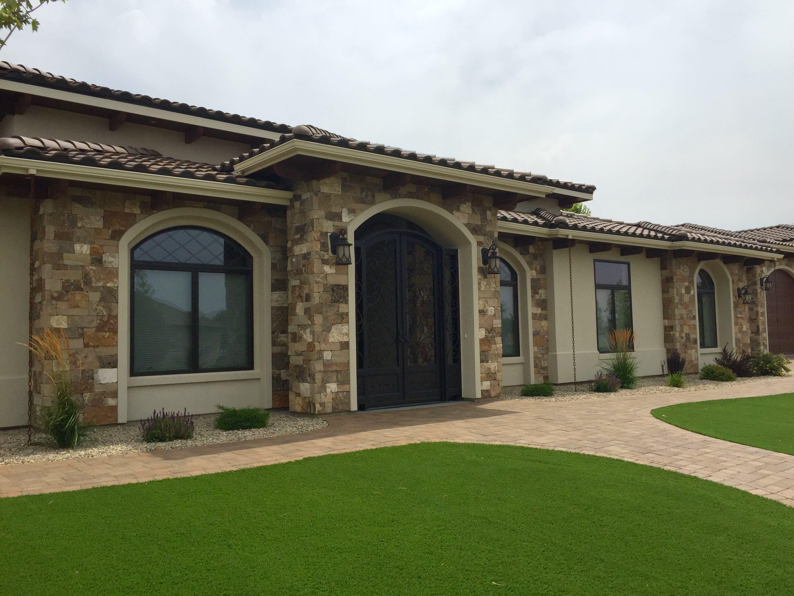 Exterior Home Design by Cotner Building