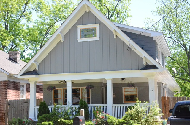 Exterior house paint contemporary craftsman traditional exterior atlanta for Sherwin williams dovetail gray exterior