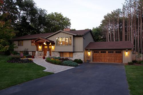 Traditional exterior home and garage door
