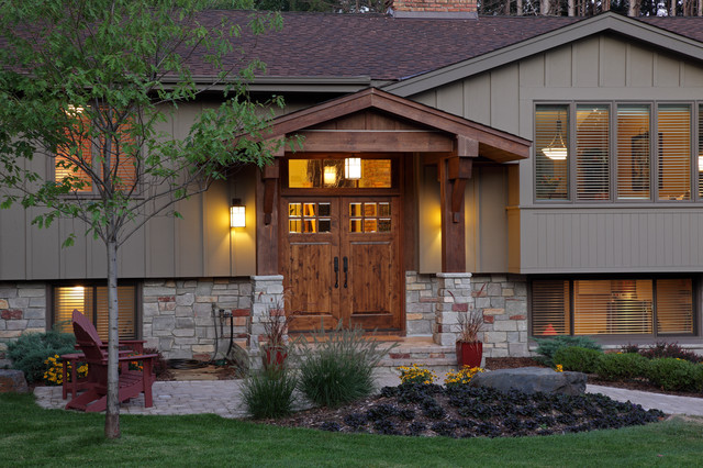 Exterior traditional exterior minneapolis by for Bi level house with front porch