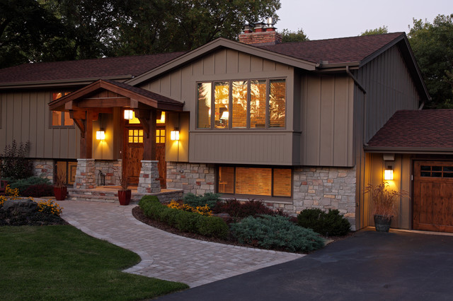 Exterior traditional exterior minneapolis by for Types of split level homes