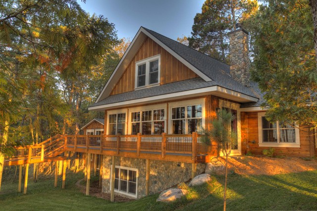 Exterior Lakeside Angle rustic-exterior