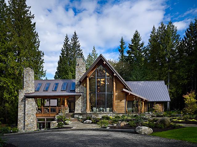 Exterior of cedar haven home contemporary exterior for Modern cedar homes