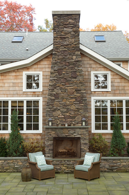 Exterior of family room addition - Traditional - Exterior - Salt ...