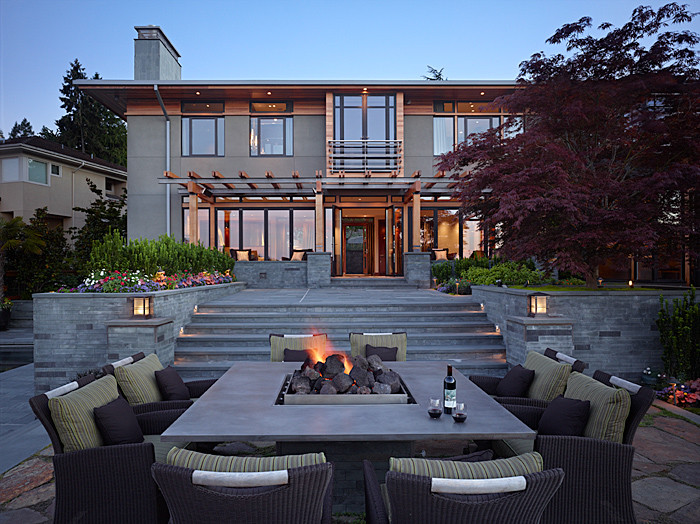 Example of a trendy exterior home design in Seattle