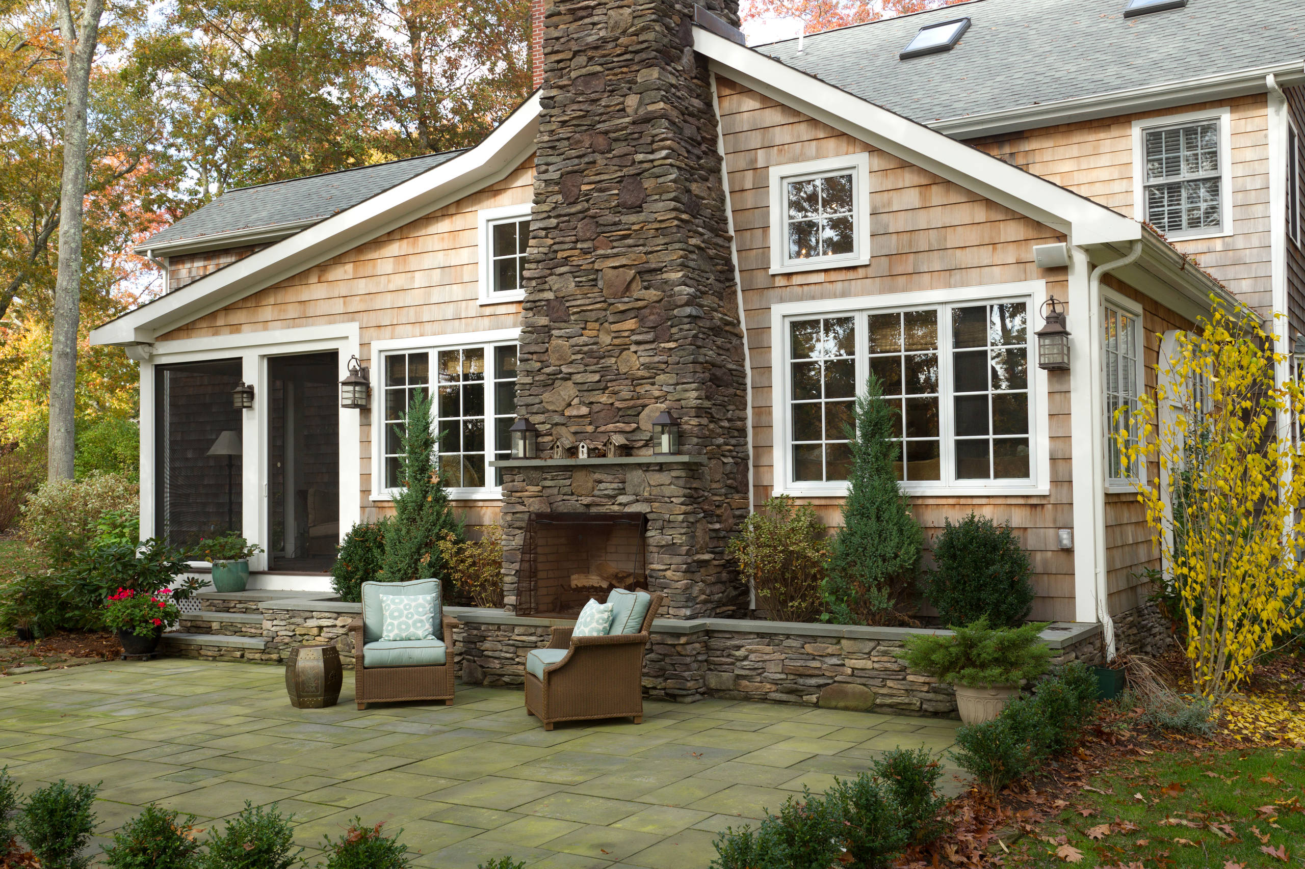 Exterior of New England shingle home