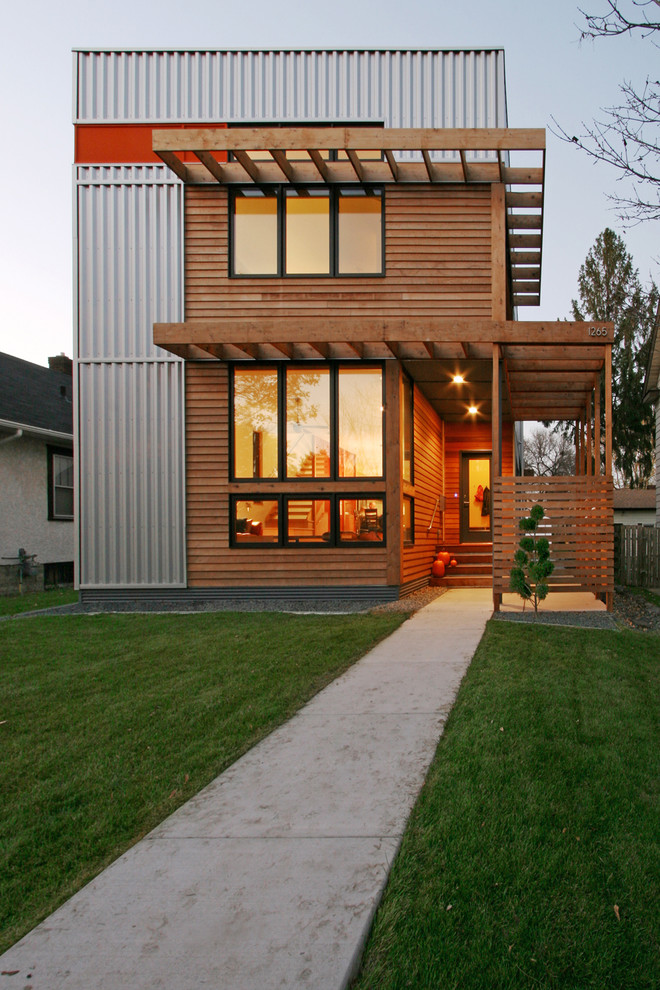 Example of a trendy exterior home design in Minneapolis