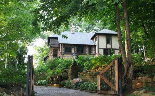 Exterior of tudor-style home traditional-exterior