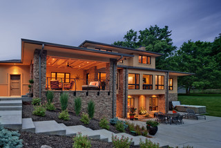 Exterior Outdoor Living Room And Patio Contemporary
