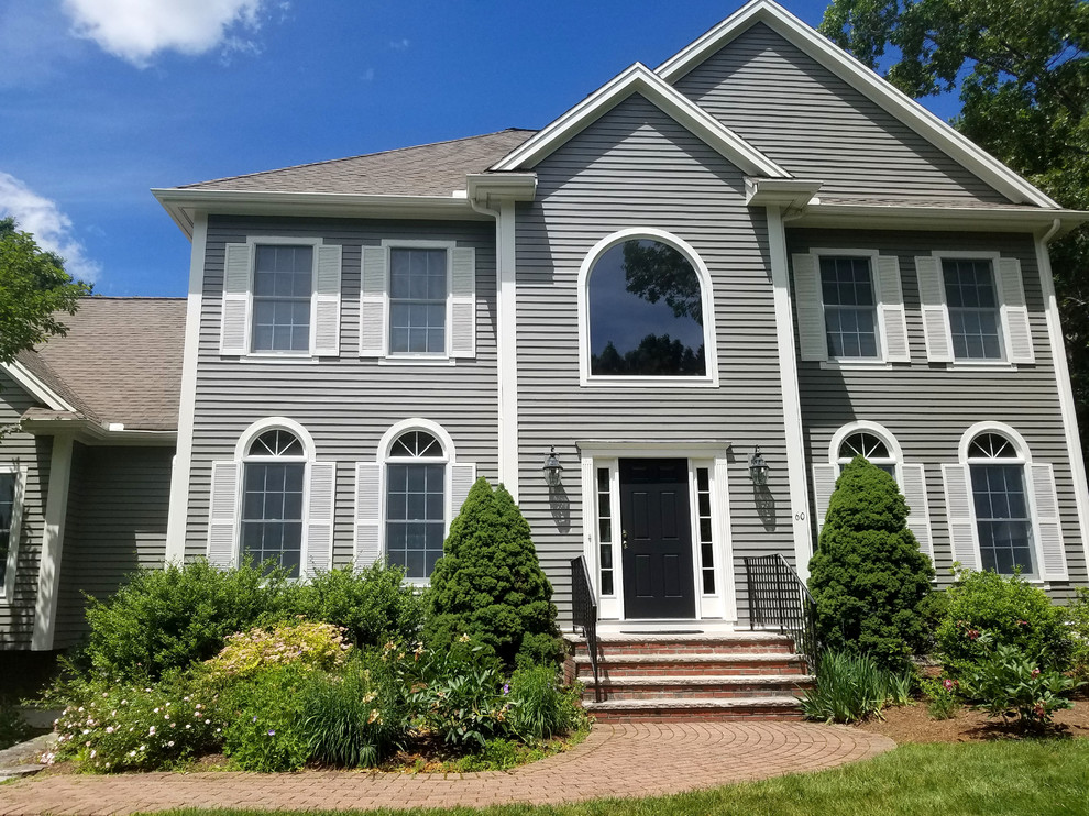 Exterior Painting In Bedford Ma Transitional Exterior Boston By Tom Curren Companies
