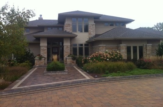 Exterior Painting Multi Level Brick Home Modern Exterior Chicago By Protect Painters Of