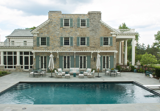 Exterior | pool and terrace traditional-exterior