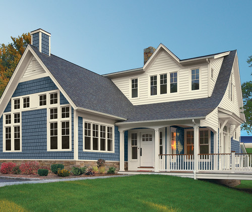 What is the color of blue shake siding for House siding ideas design