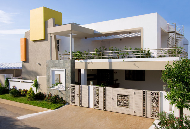 Facades Best Colours For Indian Homes Exterior Walls
