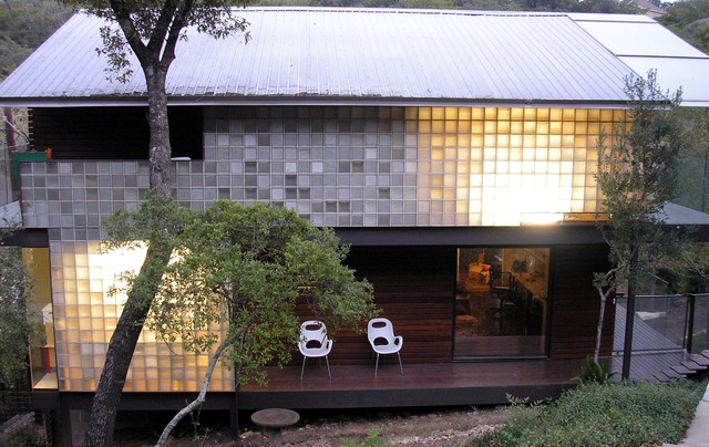 View All likewise Exterior Recycled Glass Blocks Modern Exterior Austin besides House Facade Design And Ideas together with Frostwalls likewise Bill Gates House 2. on garage built in to hillside