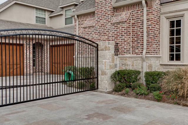 Exterior Security Gate Traditional Exterior Dallas